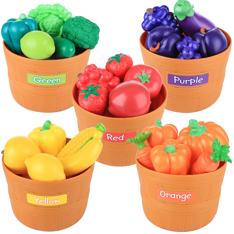 Coloured Fruit And Vegetable Set