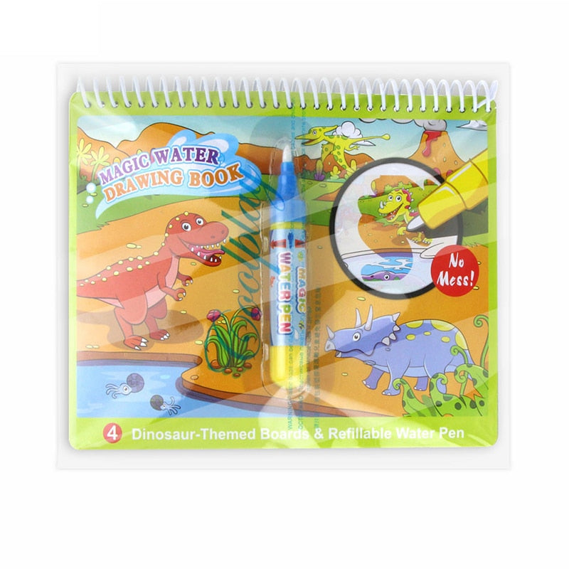 Travelling Magic Doodle Water Colouring Book Set