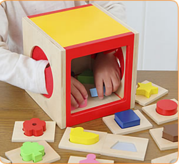 Touch And Guess Game Geometric  Box (Montessori)
