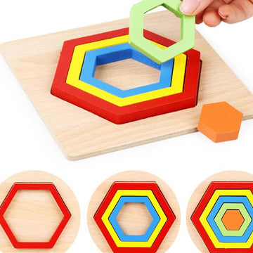 Layered Shapes Puzzle Board