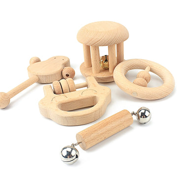 Montessori Wooden Play Set From 0 to 12 Months