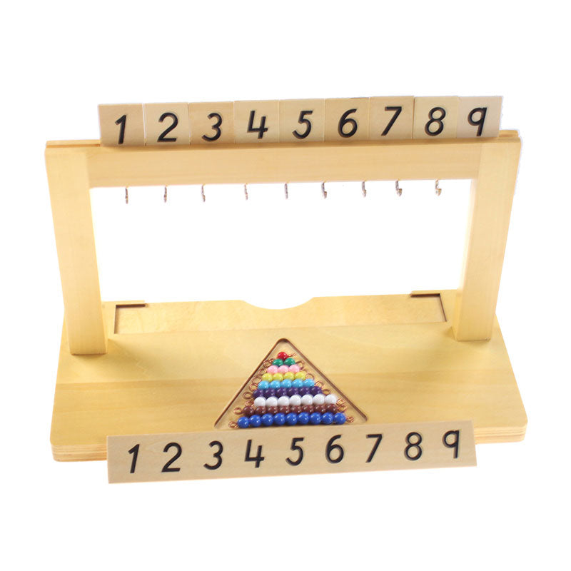 Montessori Colored Bead Hanger