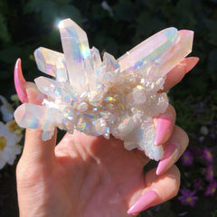 ic:Angel or Opal Aura Quartz Specimen from unicornmanor.com