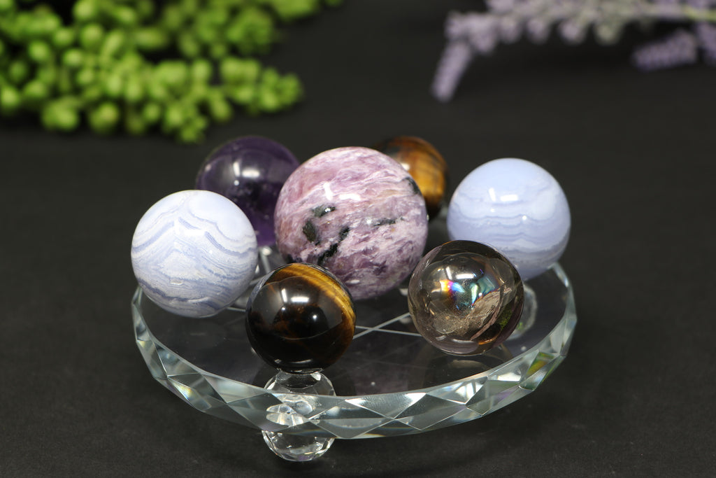 "4.6"" Glass Multi-Sphere Stand"