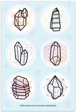 6 Crystal Sticker Sheet