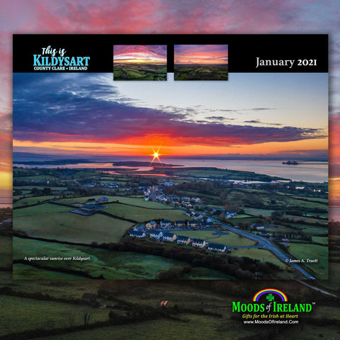 Image of 2021 This is Kildysart County Clare Ireland Wall Calendar - James A. Truett - Moods of Ireland - Irish Art
