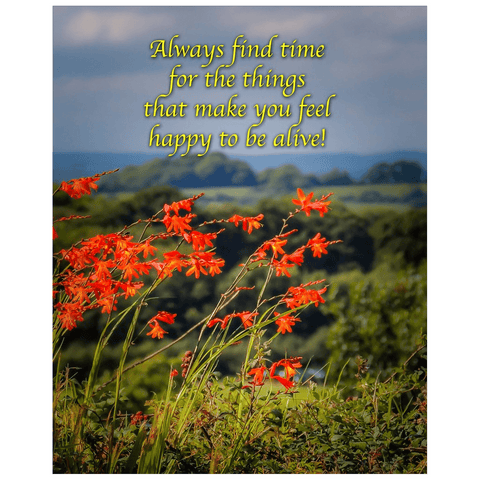 Irish Blessing Print - Always Make Time for the Things That Make you Feel Happy Poster Print Moods of Ireland 16x20 inch