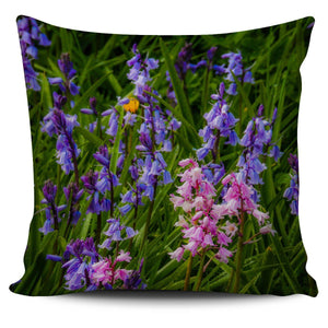 Pillow Cover - Irish Spring Bluebells in County Clare Pillow Cover Moods of Ireland