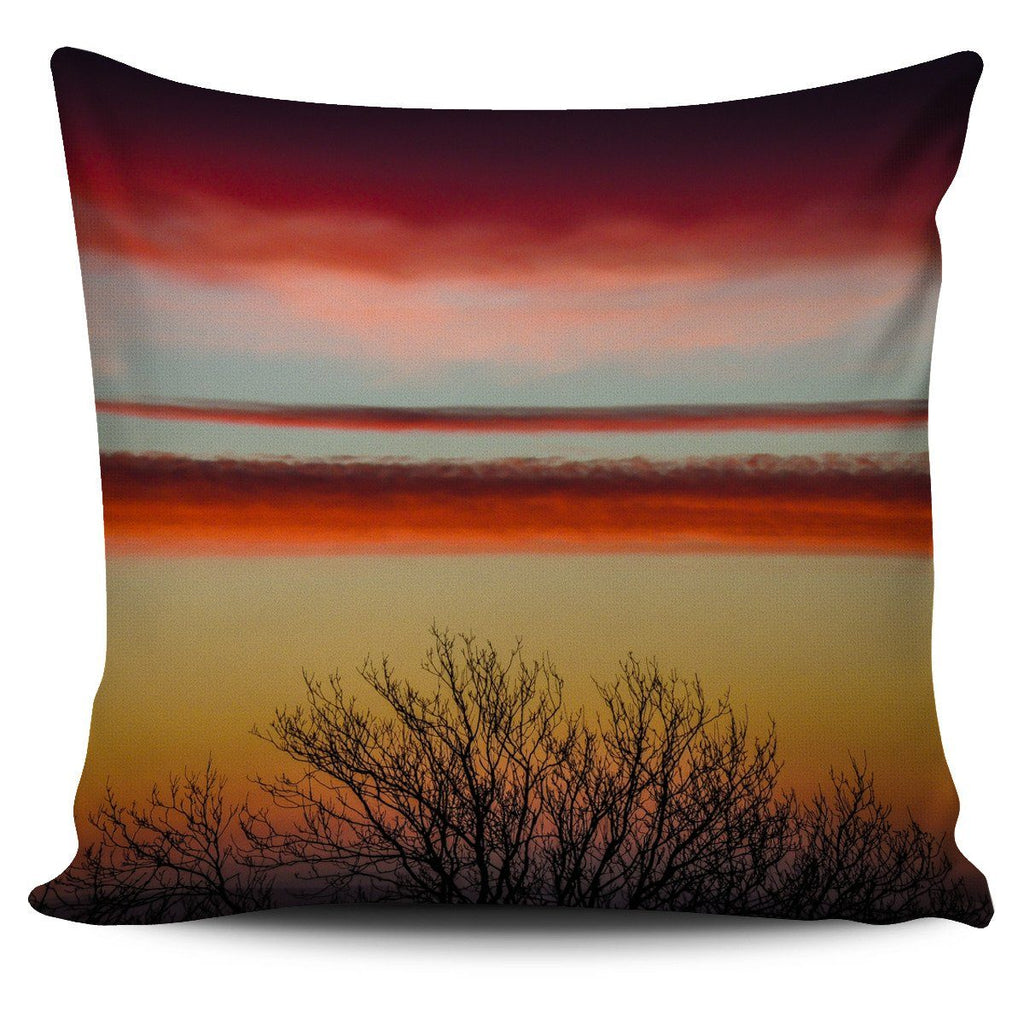 Pillow Cover - Crimson Irish Spring Sunrise in County Clare Pillow Cover Moods of Ireland