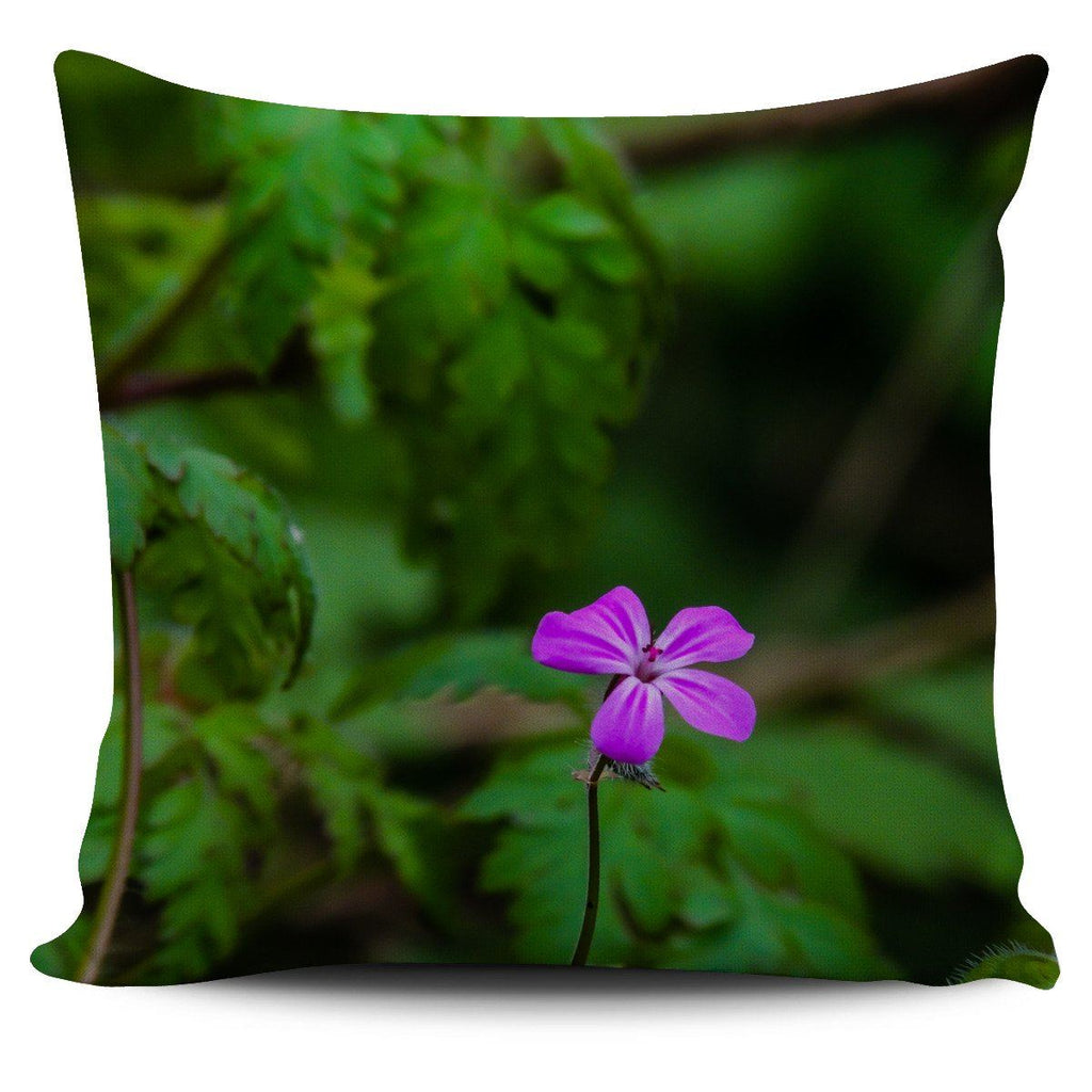 Pillow Cover - Lone Herb Robert Flower in County Galway Pillow Cover Moods of Ireland