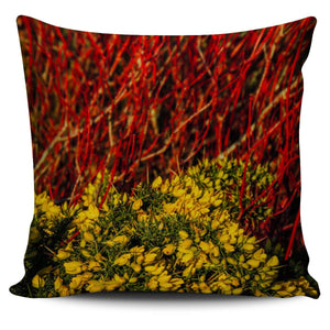 Pillow Cover - Irish Spring Gorse and Dogwood Pillow Cover Moods of Ireland