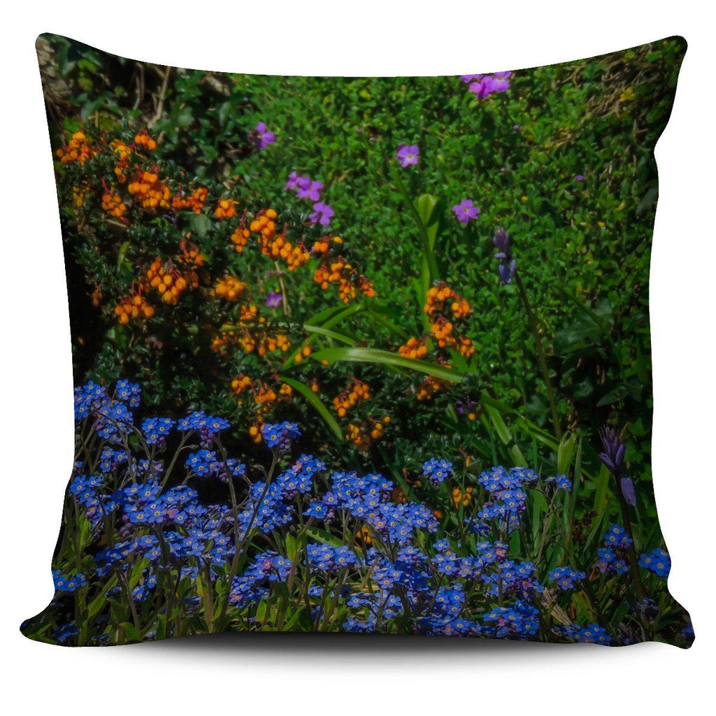 Pillow Cover - Mixed Irish Spring Flowers Pillow Cover Moods of Ireland