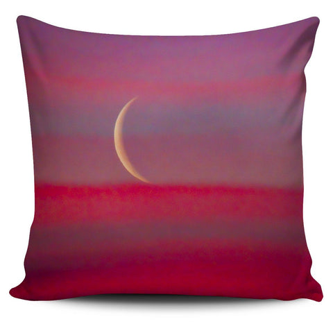Pillow Cover - Waning Crescent Irish Spring Moon over County Clare Pillow Cover Moods of Ireland