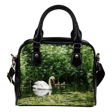 Image of Shoulder Bag - Swan and Cygnets at Doneraile Park, County Cork Shoulder Bag Moods of Ireland