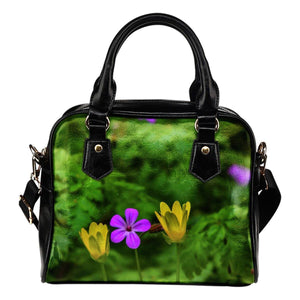 Shoulder Bag - Irish Spring Wildflowers Shoulder Bag Moods of Ireland