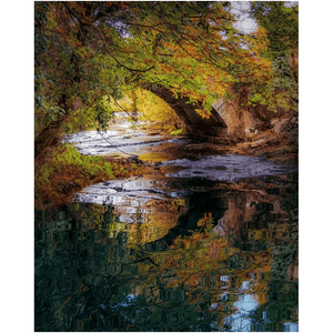 Print - Water under Clondegad Bridge, County Clare - James A. Truett - Moods of Ireland - Irish Art
