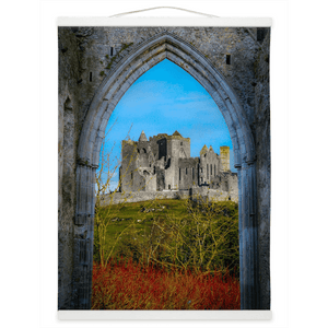 Wall Hanging - Ireland's Wall of Cashel National Monument, County Tipperary Wall Hanging Moods of Ireland 12x16 inch White