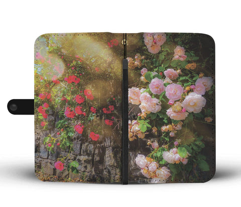 Image of Irish Roses Wallet Phone Case Wallet Case wc-fulfillment