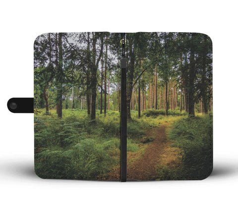 Image of Portumna Woodland Path Wallet Phone Case Wallet Case wc-fulfillment