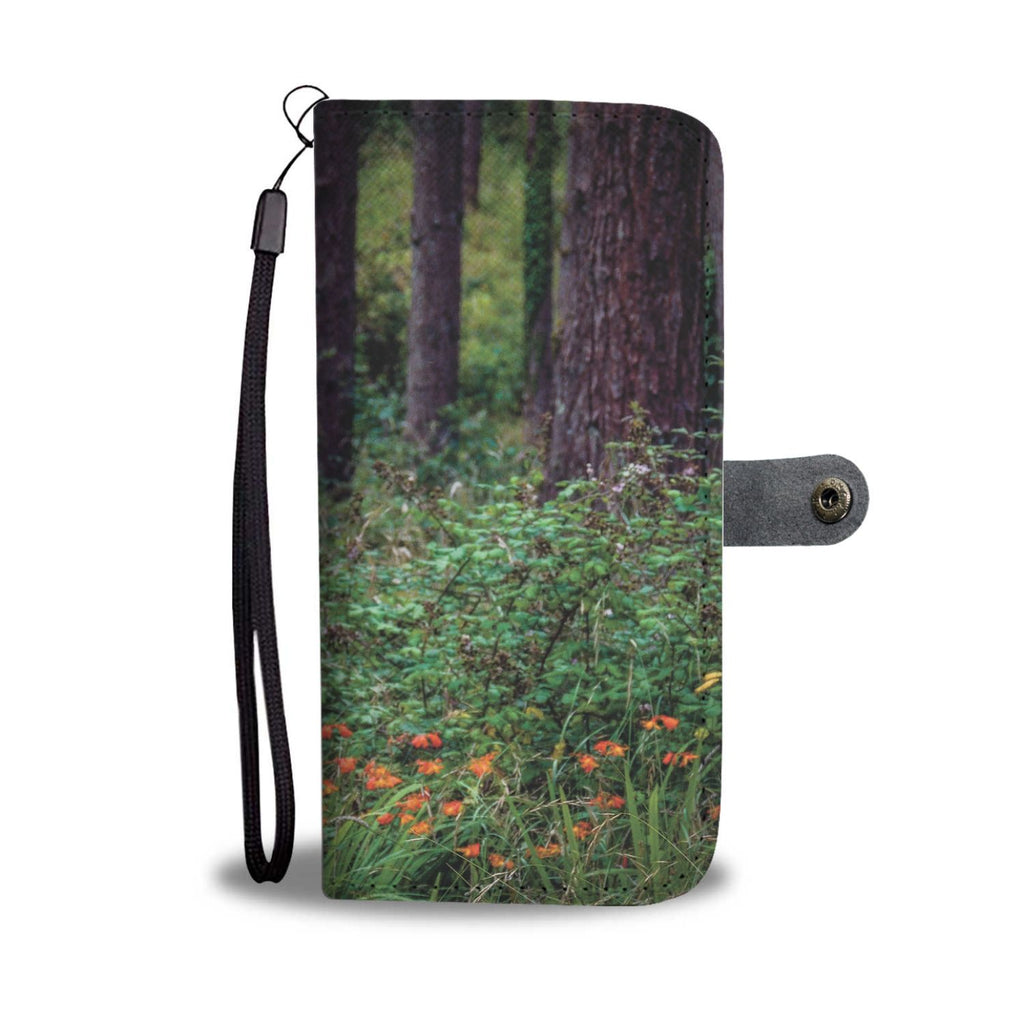Irish Forest and Wildflowers Wallet Phone Case