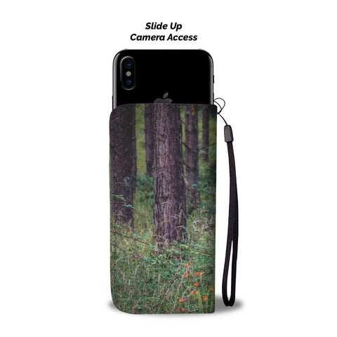 Image of Irish Forest and Wildflowers Wallet Phone Case