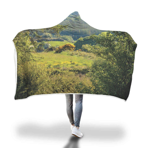 Image of 40 Shades of Green Hooded Blanket