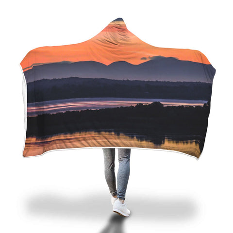 Image of Hooded Blanket - Shannon Estuary Reflections