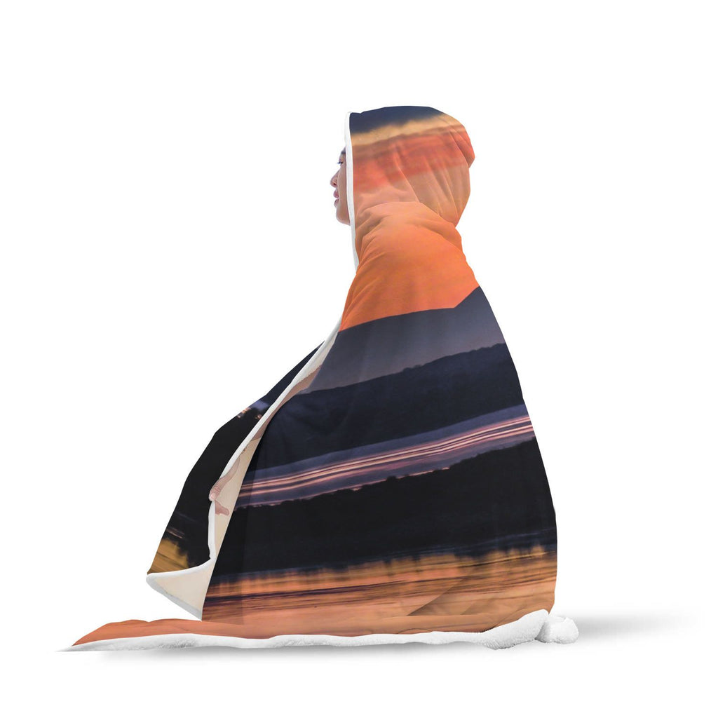 Hooded Blanket - Shannon Estuary Reflections Hooded Blanket wc-fulfillment