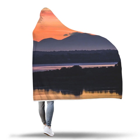 Image of Hooded Blanket - Shannon Estuary Reflections Hooded Blanket wc-fulfillment