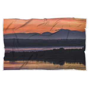 Shannon Estuary Reflections - Sherpa Blanket