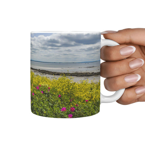 Ceramic Mug - Wildflowers on Galway Bay, County Galway 360 White Mug wc-fulfillment