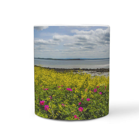 Image of Ceramic Mug - Wildflowers on Galway Bay, County Galway 360 White Mug wc-fulfillment