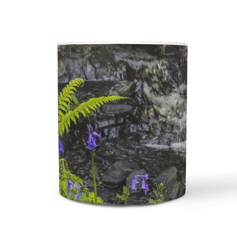 Ceramic Mug - Bluebells and Ferns at St. Martin's Stream, County Clare 360 White Mug wc-fulfillment