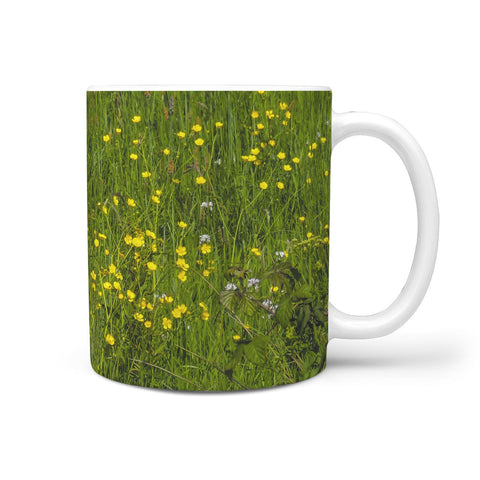 Ceramic Mug - Irish Buttercup Meadow 360 White Mug wc-fulfillment