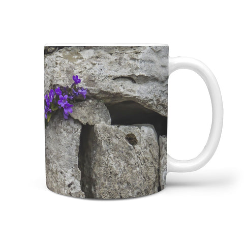 Ceramic Mug - Purple Flowers at Kildysart Grotto, County Clare 360 White Mug wc-fulfillment