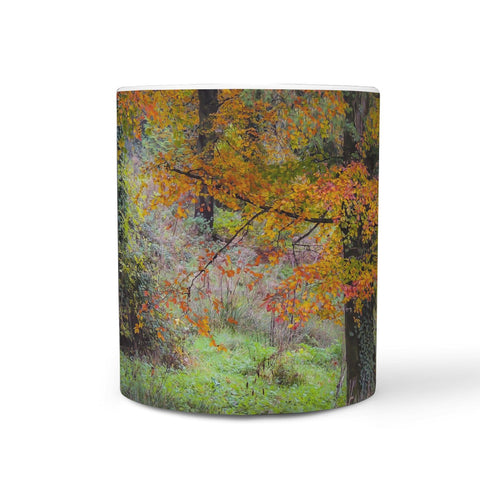 Ceramic Mug - Autumn Tree in Clondegad Wood, County Clare 360 White Mug wc-fulfillment