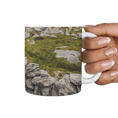 Ceramic Mug - Burren Stone Wall 360 White Mug wc-fulfillment