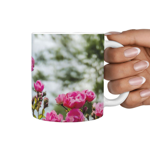 Ceramic Mug - Wild Irish Roses 360 White Mug wc-fulfillment