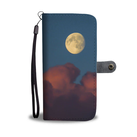 Image of Moon and Pink Clouds over County Clare, Wallet Phone Case Wallet Case wc-fulfillment