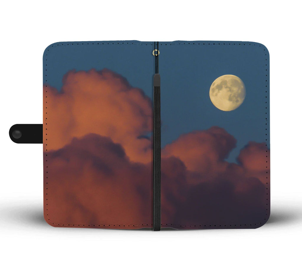 Moon and Pink Clouds over County Clare, Wallet Phone Case Wallet Case wc-fulfillment