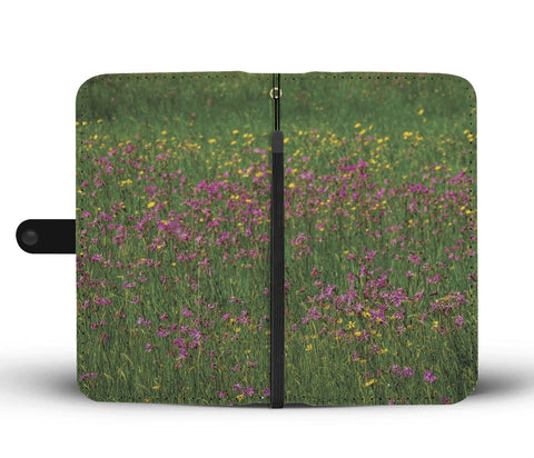 Image of Irish Wildflower Meadow in County Clare, Wallet Phone Case Wallet Case wc-fulfillment