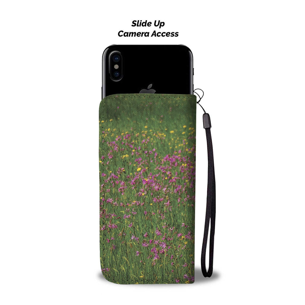 Irish Wildflower Meadow in County Clare, Wallet Phone Case Wallet Case wc-fulfillment