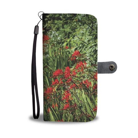 Image of Montbretia Wildflowers in County Clare, Wallet Phone Case Wallet Case wc-fulfillment