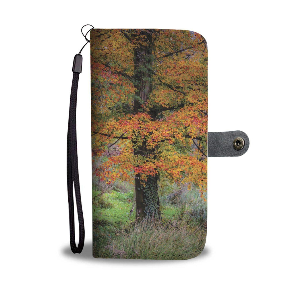 Autumn Copper Beech Tree in Clondegad Wood, County Clare, Wallet Phone Case Wallet Case wc-fulfillment