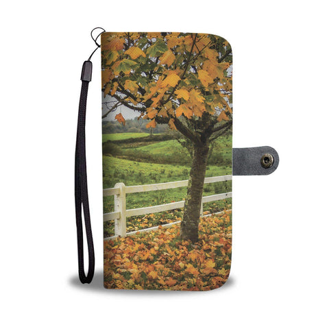 Image of Autumn in the County Clare Countryside, Ballynacally, Wallet Phone Case Wallet Case wc-fulfillment