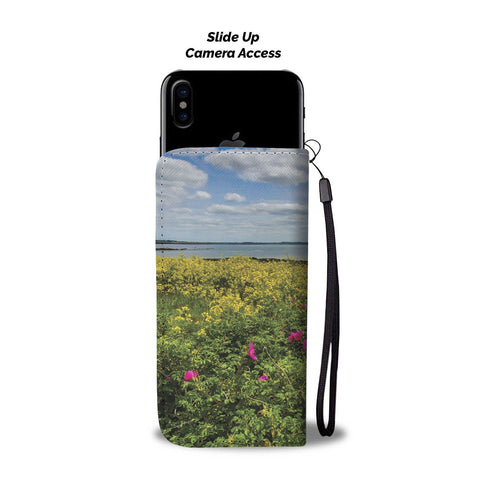 Image of Wildflowers on Galway Bay, Wallet Phone Case Wallet Case wc-fulfillment