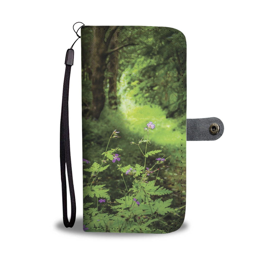 Woodland at Thoor Ballylee, County Galway, Wallet Phone Case Wallet Case wc-fulfillment