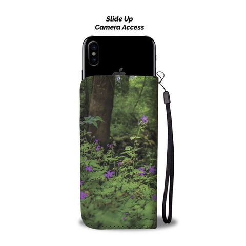 Image of Woodland at Thoor Ballylee, County Galway, Wallet Phone Case Wallet Case wc-fulfillment