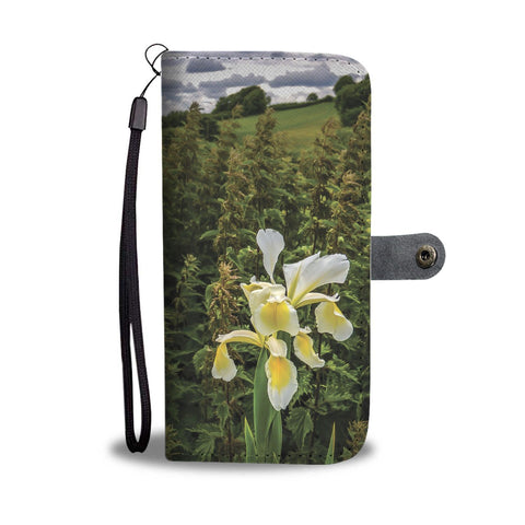 Image of Wild Iris in the County Clare Countryside, Wallet Phone Case Wallet Case wc-fulfillment