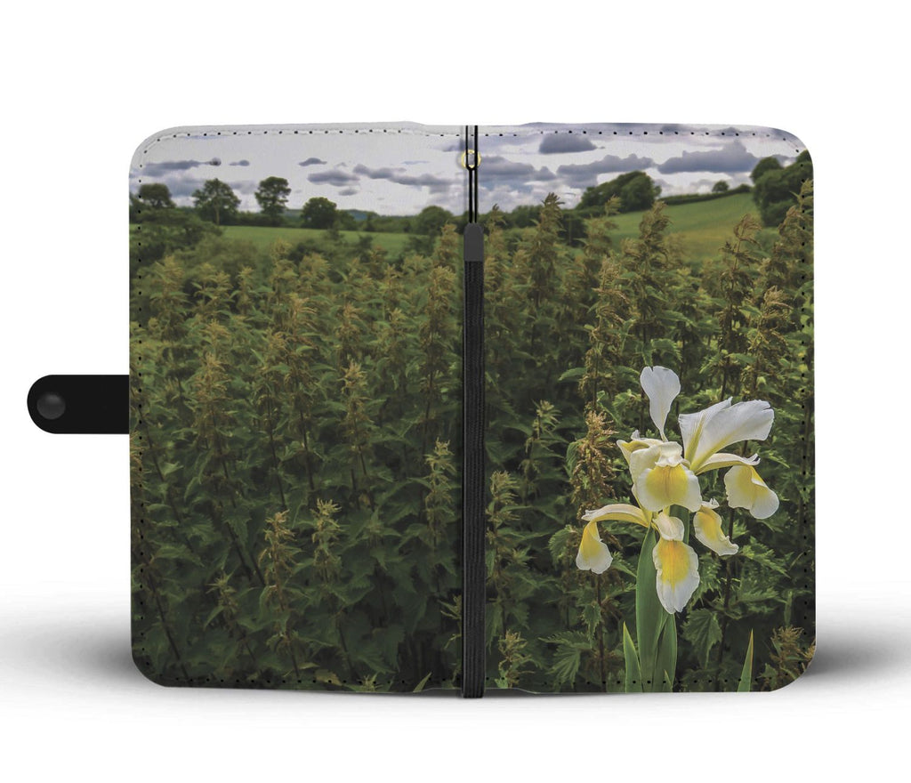 Wild Iris in the County Clare Countryside, Wallet Phone Case Wallet Case wc-fulfillment
